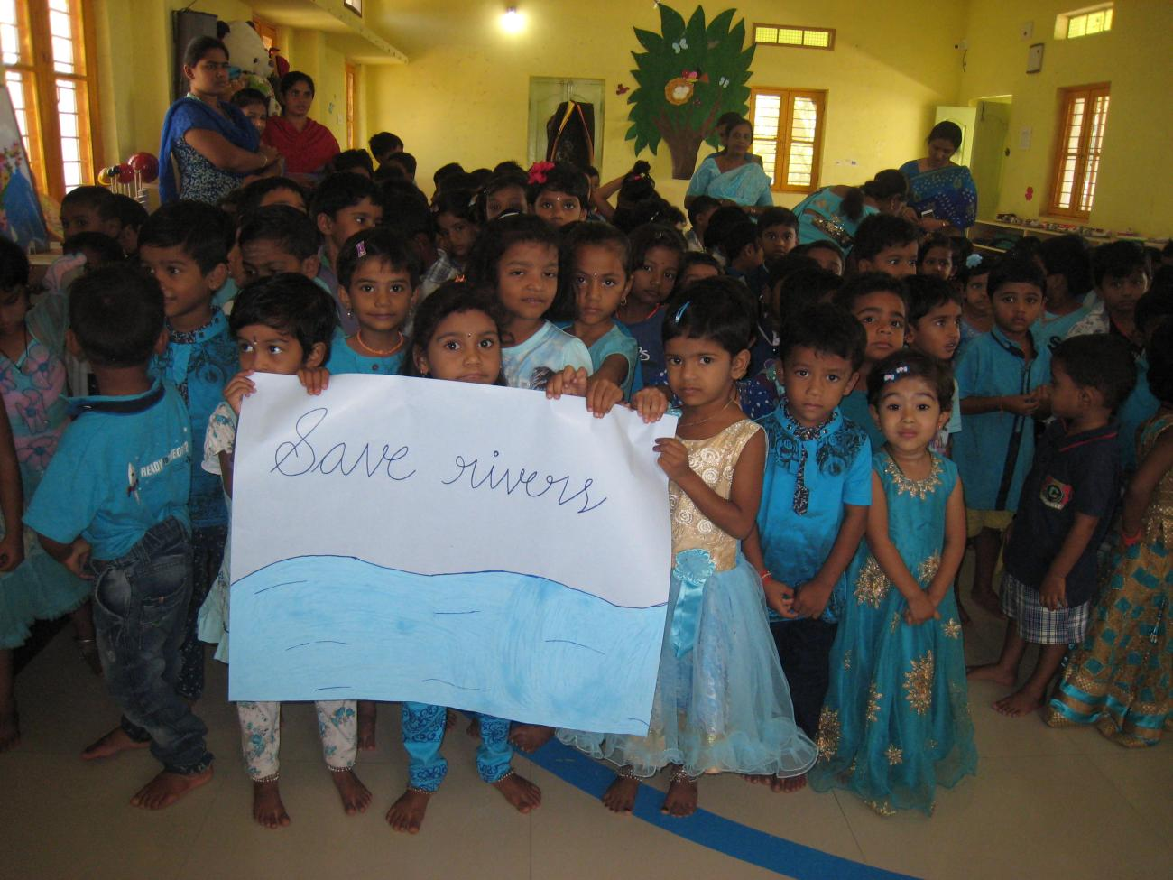 Celebration of Blue Day in Montessori